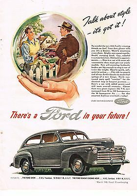 1946 OLD MAGAZINE PRINT AD, Ford
