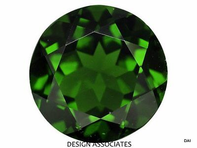 Chrome Diopside 10 Mm Round Cut   Russian Green Collector Stone