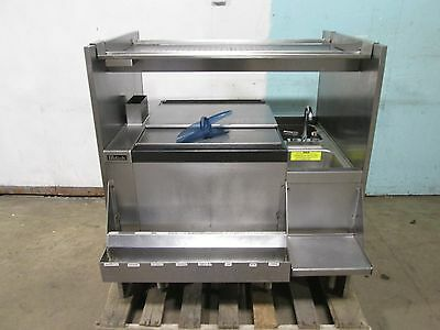 """""""PERLICK PTS24IC10"""" HD COMMERCIAL BARTENDER STATION w/ICE BIN & SERVICE COUNTER"""