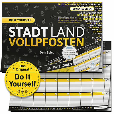 "STADT LAND VOLLPFOSTEN® - ""DO IT YOURSELF""-EDITION mit 182 Kategorien - DIN-A4"