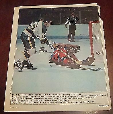 Perspectives Magazine January 24 1970 Claude larose Danny Grant  action