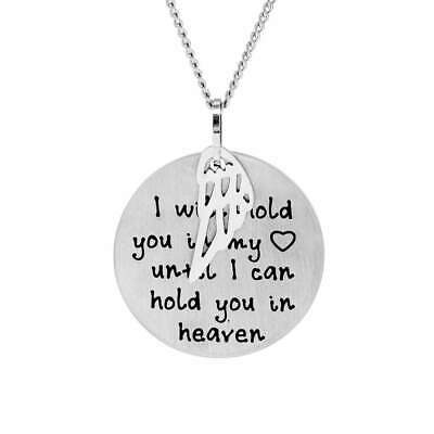 Hold You in My Heart Bereavement Pendant
