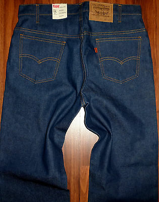 Nwt Rare Vintage Mens Levis 509 0217 Raw Blue Denim Orange Label Jeans Sze 34X34