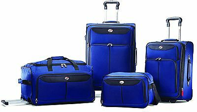 American Tourister Luggage Set 4 Piece Suitcases Spinner Upright Carry Travel