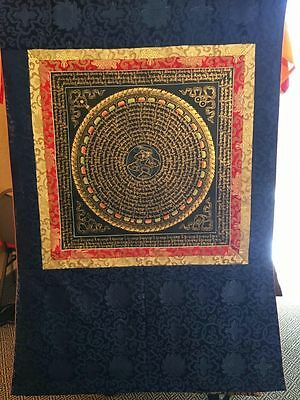 Mantra Mandala Thangka (Thanka) in Brocade