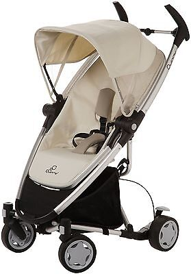 Quinny Zapp Xtra Folding Seat Stroller in Natural Mavis New!! Open Box!!