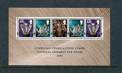 GREAT BRITAIN (WALES) 23a, 2006 ASSEMBLY, S/S,  MNH (ID6106)