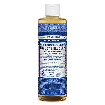 Dr. Bronner's 18-in-1 Hemp Peppermint Pure-Castile Soap 237ml