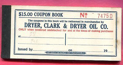 Oklahoma City Oklahoma - Dryer, Clark & Dryer Oil Co. - $15.00 Coupon Book
