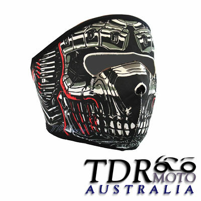 BLACK Sports Biker Mask NEOPRENE Transformers Robot DEsign Full Face Mask TDR