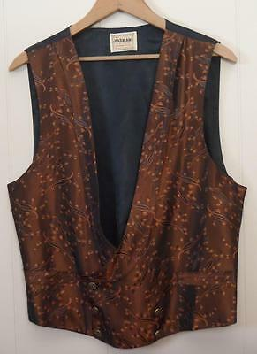 Lot of 3 Vests Theater Western Leather Period Gambler Reenactment Size Small