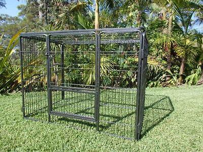"Dog Playpen Premium 36"" 4 panel with ROOF exercise cage pet Puppy kennel cat pen"