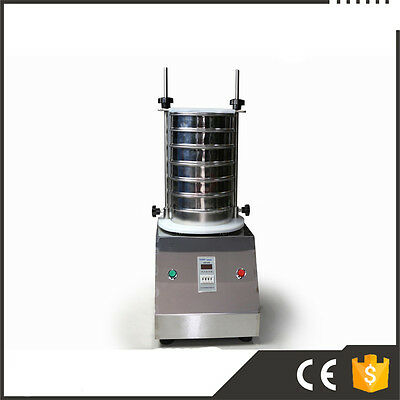 220V Vibrating Sieve Machine for Granule/Powder/Grain, Electric Lab Shaker New