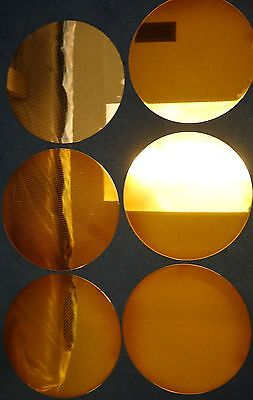 "6 etched polished Silicon Wafer Wafers 11.75"" diameter"