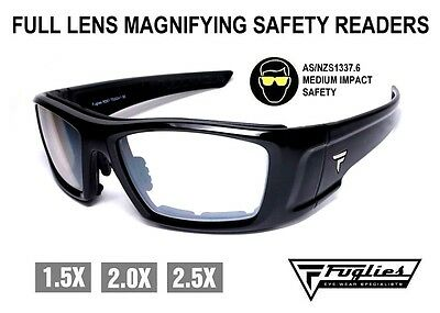 Fuglies Full Lens Magnifying Safety Readers - ASNZS1337 Medium Impact