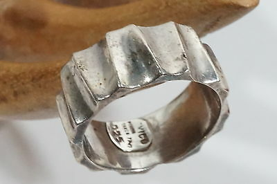 D955 Vintage Mexico Taxco Sterling Maria Pineda TP-17 ZIG ZAG Ring Size: 8 1/2