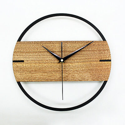 """Theatrical Style Wall Clock Creative Nordic Watch  Home Decor Wooden 12"""""""