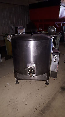 Vulcan Natural Gas Stainless Steel Bagel Boil Jacketed Steam Kettle 80 Gallon