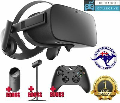 Oculus Rift Virtual Reality VR Gaming Headset + Controller & Remote 1YR WARRANTY