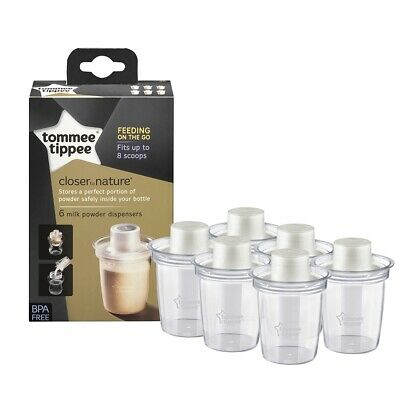 Tommee Tippee Closer To Nature Baby Milk Powder Dispensers x 6