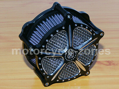 Black Contrast Cut Air Cleaner Filter For Harley Sportster 1200 Iron 883 48 72