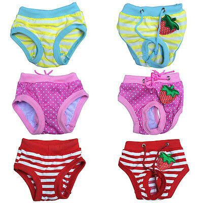 Small Female Dog Cat Pet Panties Panty Puppy Nappy Diaper Underpants Shorts S-XL