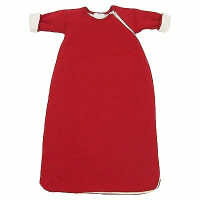 Baby Winter Sleeping Bag / Wearable Blanket with Long Sleeves, Cotton / Wool Red