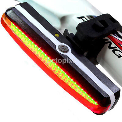 USB Rechargeable LED Bike Cycling Front Rear Tail Light Lamp 6 Modes Waterproof