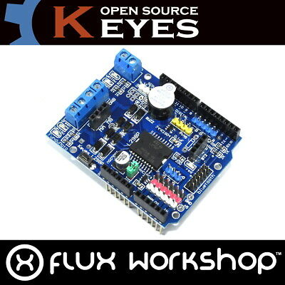 Arduino UNO L298P Original Motor Keyes Shield Summer H-Brücke 2A Flux Workshop