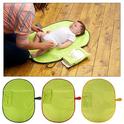 Baby Toddler Diaper Changing Cover Mat Foldable Pad Nappy Storage Handbag Travel