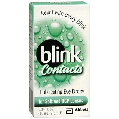Blink Contacts Lubricating Eye Drops, For Soft and RGP Lenses, 0.34 oz