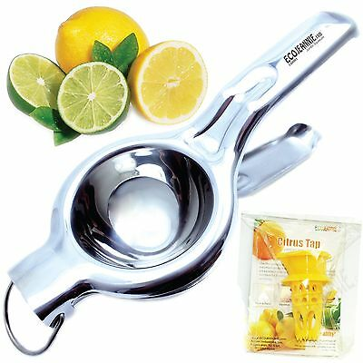 EcoJeannie LS0001 Professional Jumbo Stainless Steel Lemon and Lime Squeezer ...