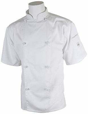 Mercer Culinary M61022WHL Genesis Unisex Short Sleeve Chef Jacket with Cloth ...