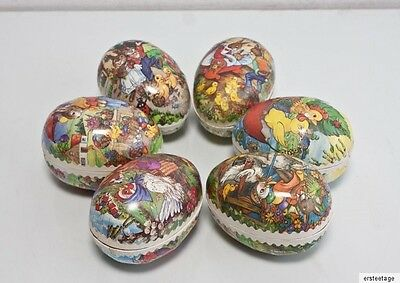 6 x Ostereier Pappeier Pappe DDR  Ostern  Candycontainer 2