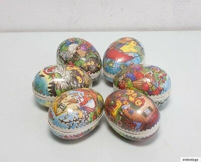 6 x Ostereier Pappeier Pappe DDR  Ostern  Candycontainer 5