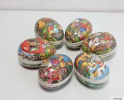 6 x Ostereier Pappeier Pappe DDR  Ostern  Candycontainer 8