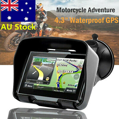Motorcycle Waterproof GPS 8GB Pre-Loaded 2017 AU Maps suitable for cars Bicycle