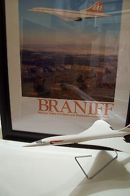 1 Braniff I (USA) - CONCORDE -Poster- USA  (Only SST Service*79 / 80*) *FRAMED*