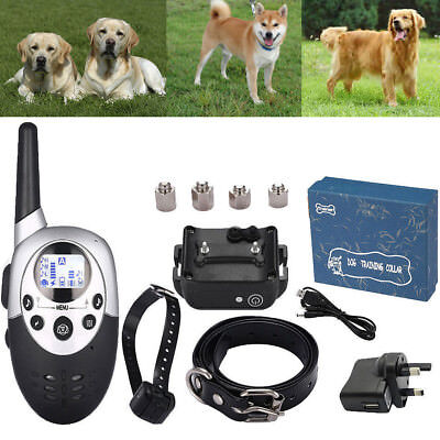 1000M LCD Rechargeable Electric E-Collar Pet Dog Remote Shock Training Collar
