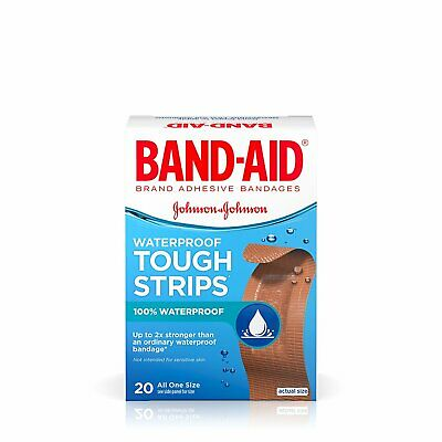 Band-Aid Adhesive Bandages Waterproof Tough Strips - 20 Count