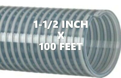 Kanaflex 112 CL15  1-1/2 inch x 100 ft. Water Suction Hose Clear PVC - 100' ROLL
