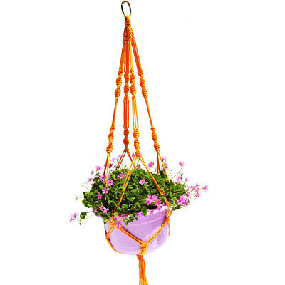 1M Plant Pot Hanger Macrame Jute Rope for In/Outdoor Ceiling Holder Yellow