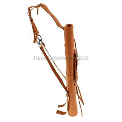 Archery Traditional Back Arrow Quiver w/Front Pocket Microfiber PU Leather