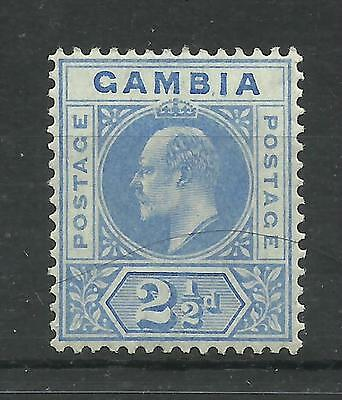 Gambia 1904, Sg 60, 21/2d Bright Blue (Multi Crown WK) Very Lightly M/Mint [100]