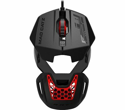 Mad Catz RAT 1 Optical Gaming Mouse with Macro Buttons Black with Red LED
