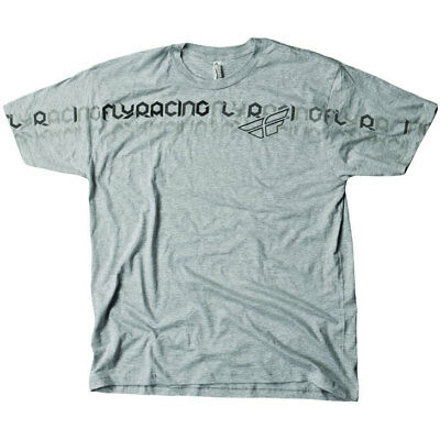 Fly Racing T-Shirt Flipfade grau