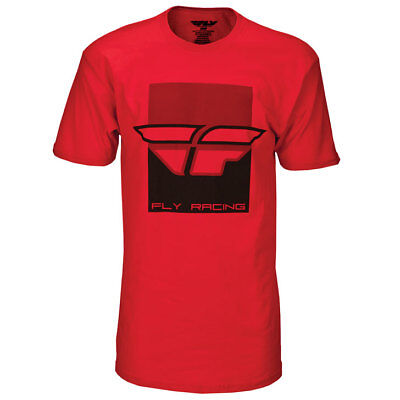 Fly Racing T-Shirt Color Block rot