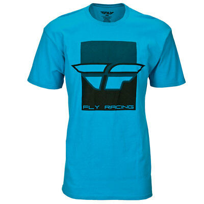 Fly Racing T-Shirt Color Block türkis