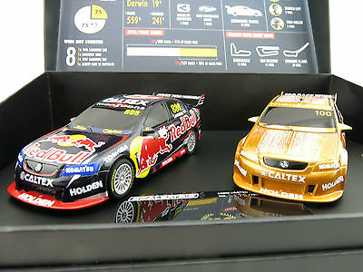SCALEXTRIC C3815A Craig Lowndes 100th Win Twin Pack Limited Edition V8 Supercars