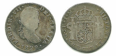 MEXICO - Scarce Royalist Issue, 2 Reales, 1822 Guanajuato Mint - Ferdinand VII